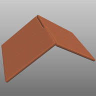 Intersecting roof tiles